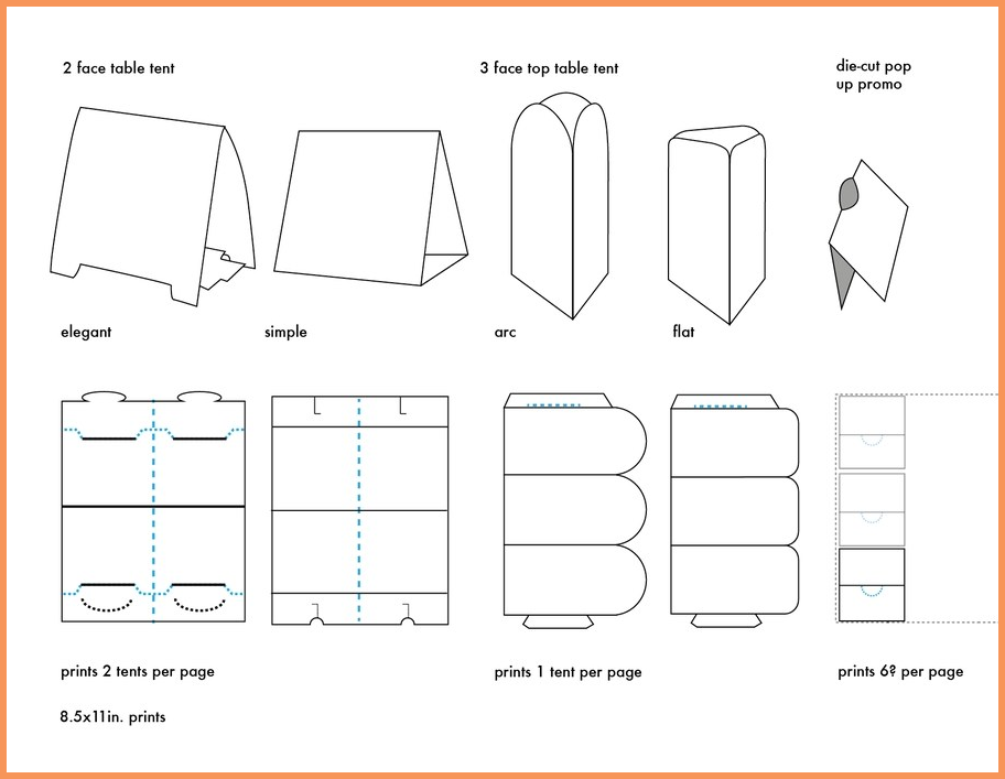 Table Tent Template Indesign Templates Word