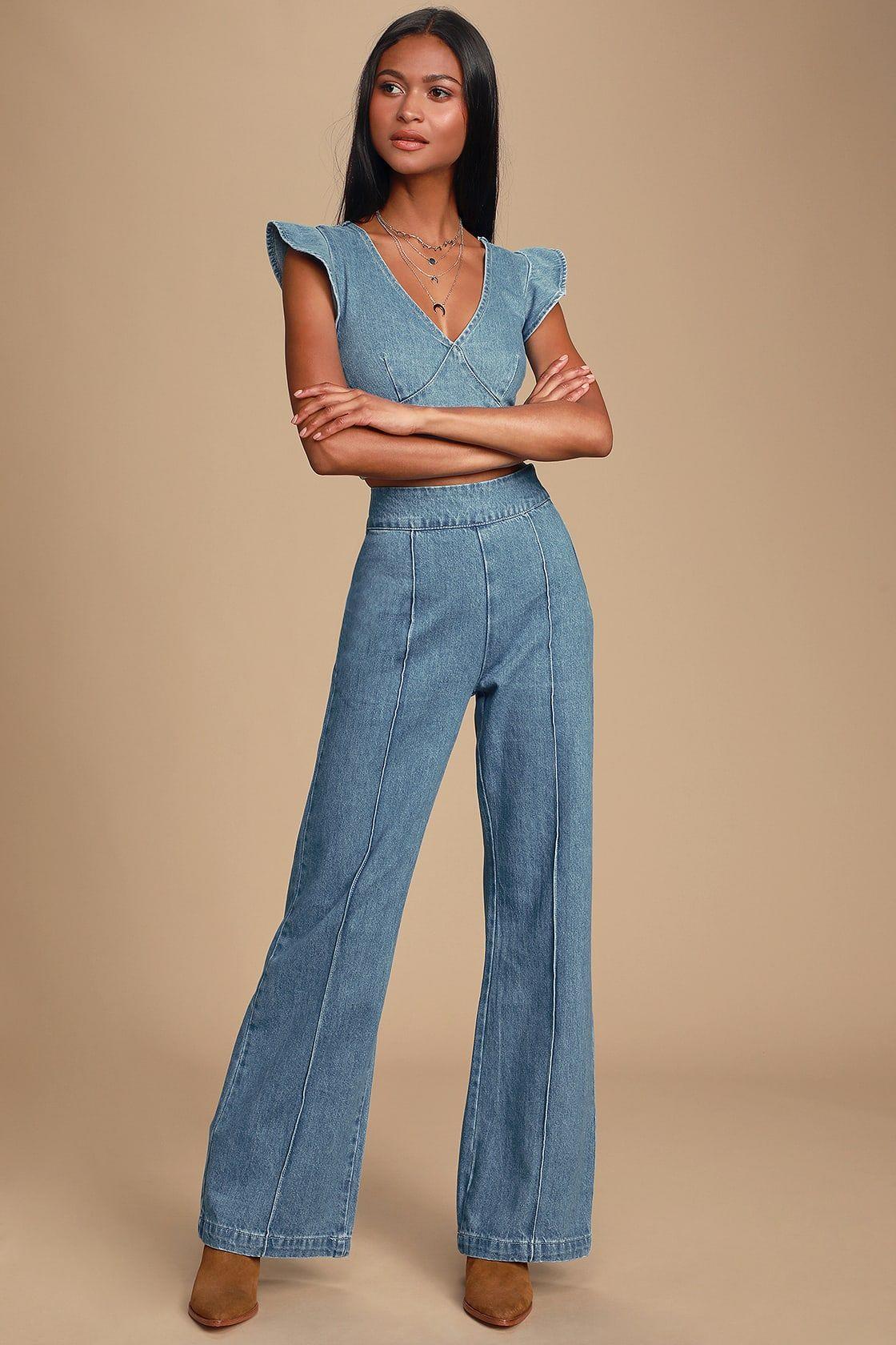 Lyndzee medium wash highwaisted jeans high waist jeans