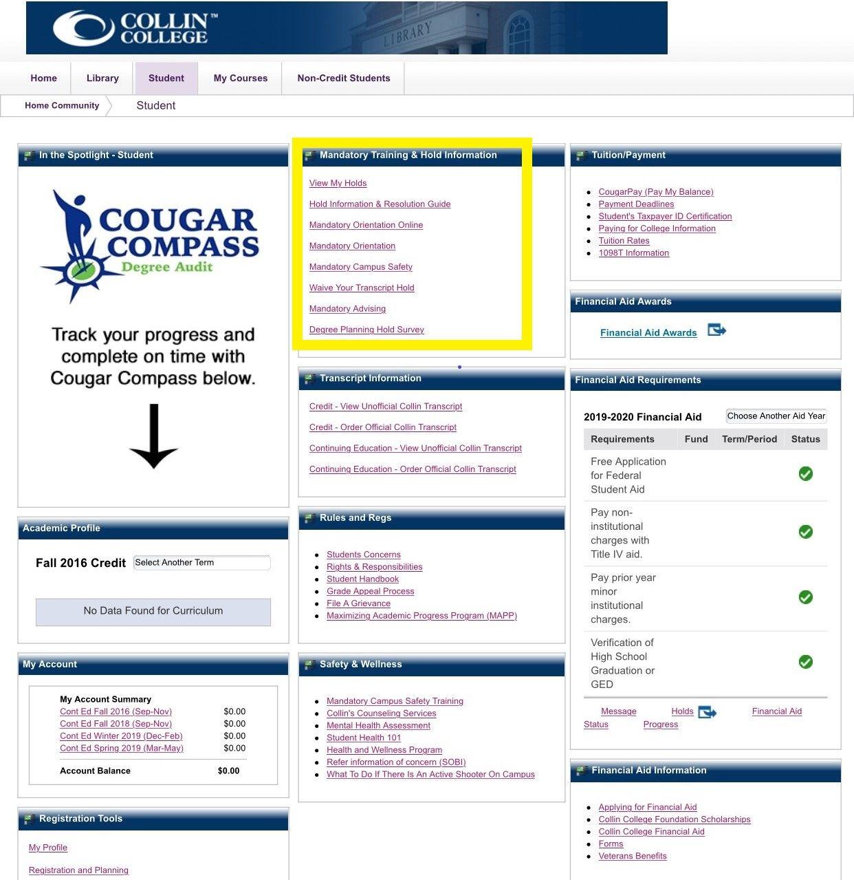 Photos of Collin College 2021 Calendar
