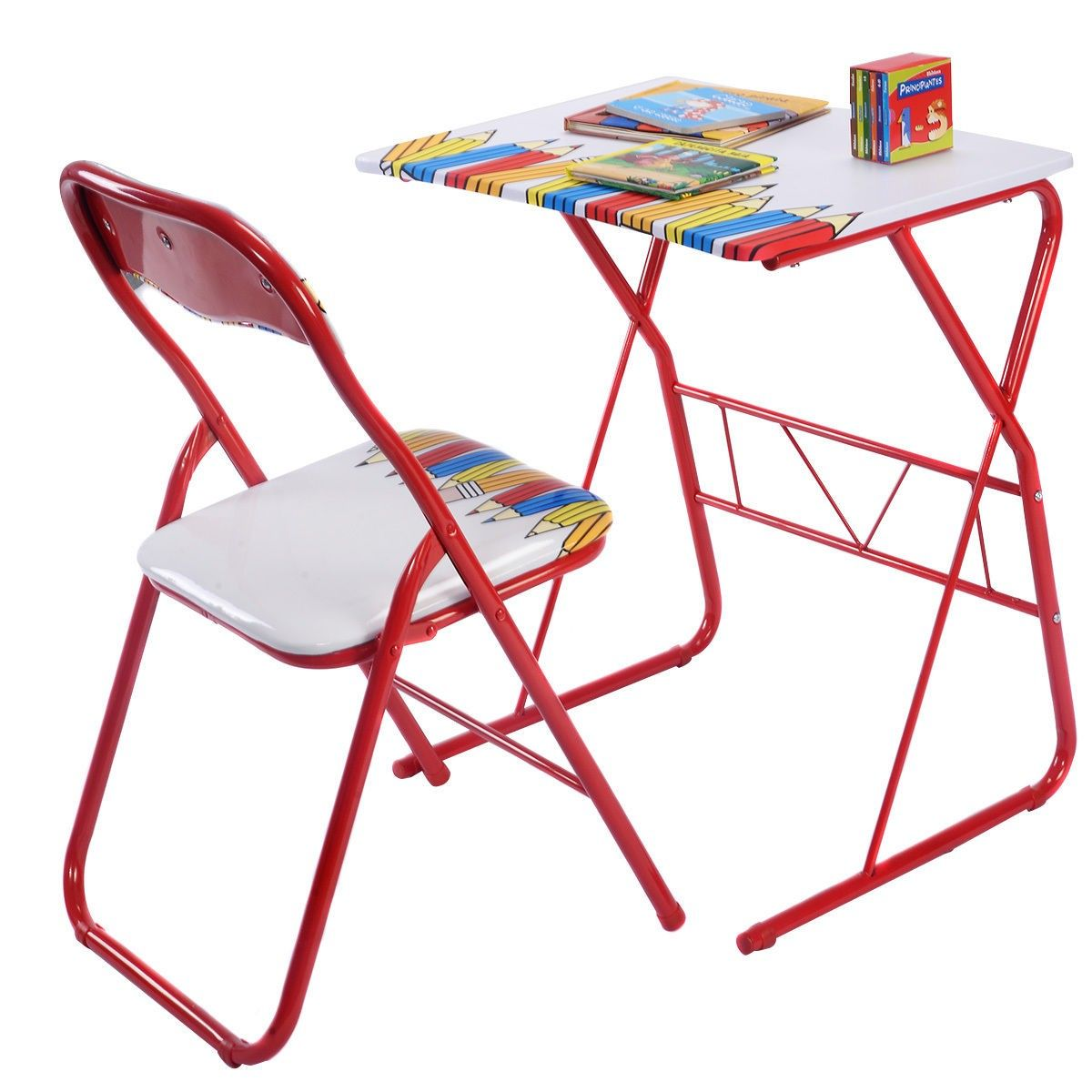 This student desk and chair set offers a delightful environment to study with its colorful design.  sc 1 st  Pinterest : kids folding table and chair set - Pezcame.Com