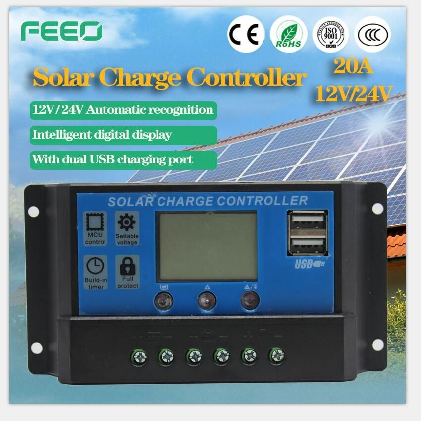 Solar Charge Controller 12v 24v 48v 40a 50a 60a Automatic Photovoltaic Solar Panel Battery Street Light Lcd Screen Display Pwm Accessories & Parts