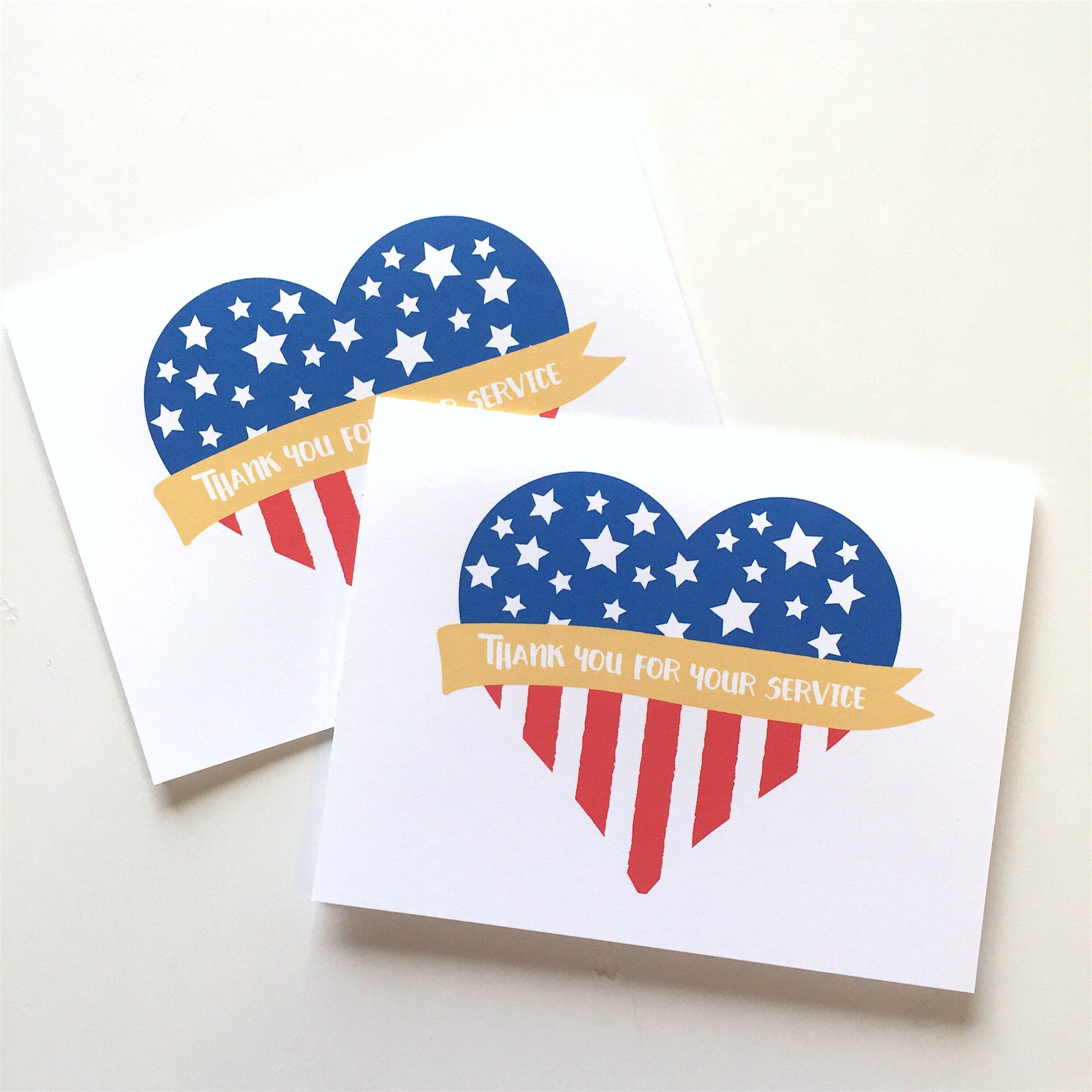 Patriotic Card Thank You For Your Service Veterans Day