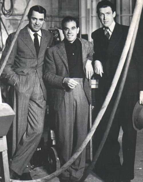 Cary Grant, Frank Capra, and James Stewart
