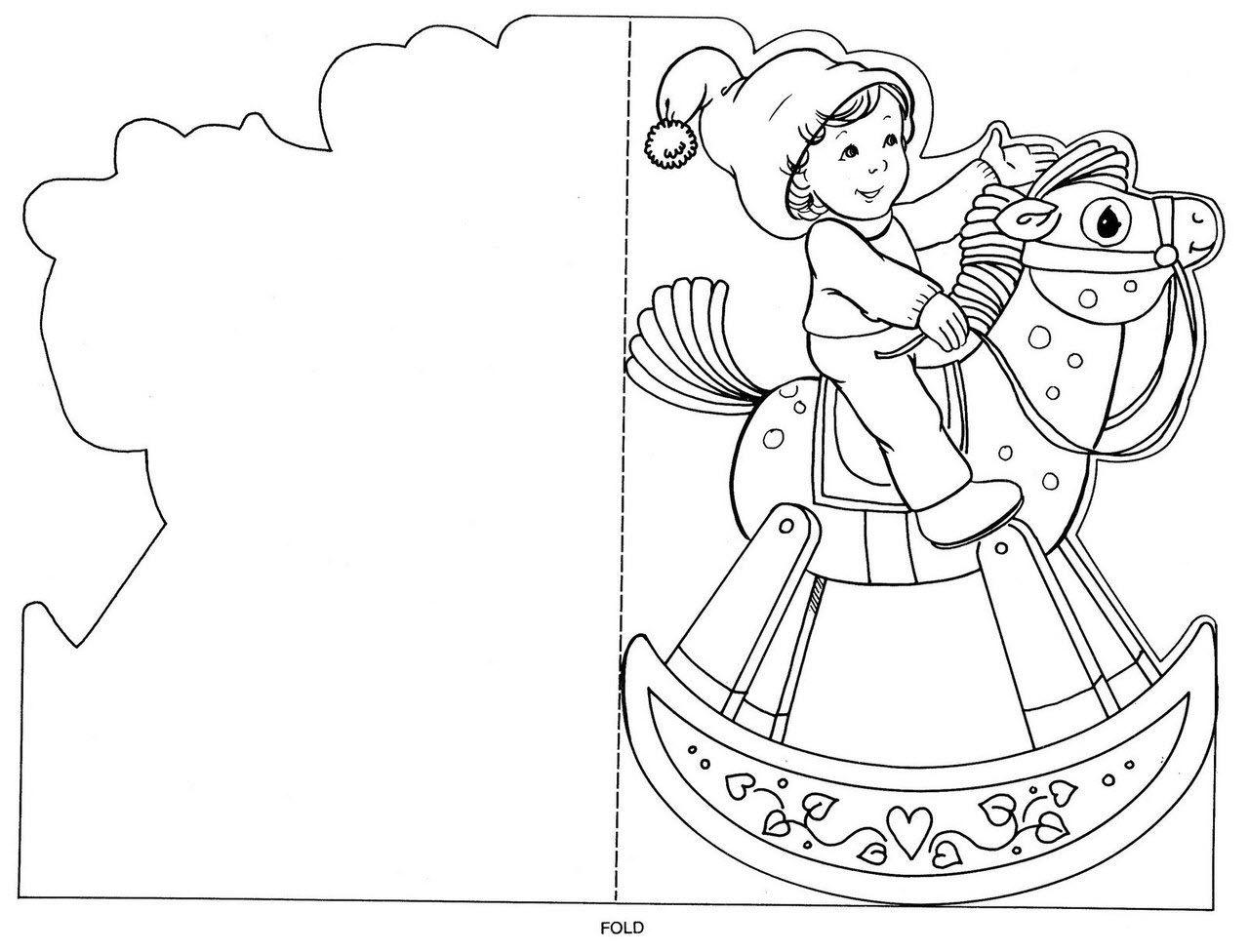 Новогодняя открытка-раскраска для девочек и мальчиков ...