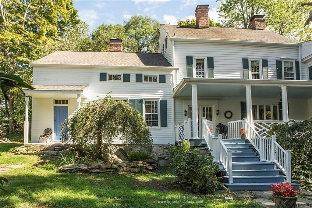 Fair street antique colonial farmhouse with images