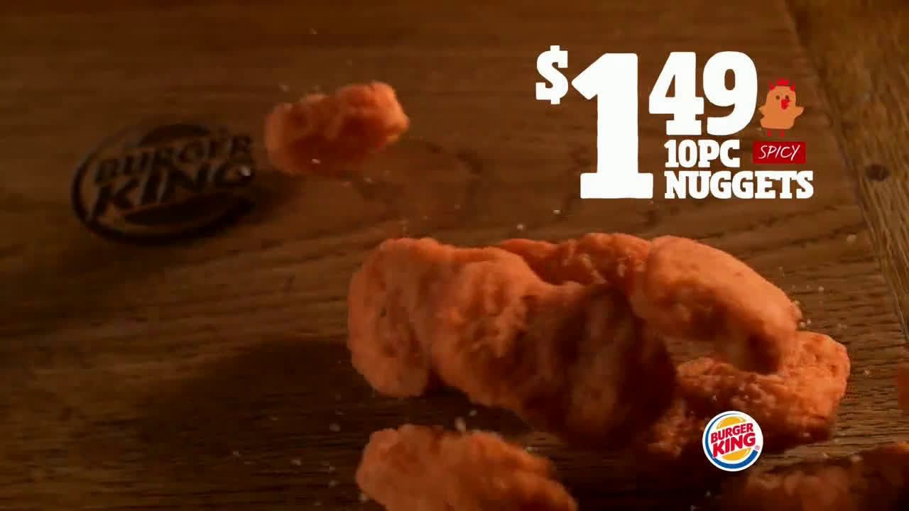 Burger King Chicken Nuggets Turning Up The Heat Ad Commercial