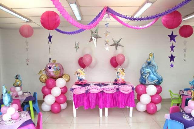 Decoraci n tem tica con globos para fiesta infantil fiesta pinterest globos para fiestas Adornos sencillos para cumpleanos infantiles