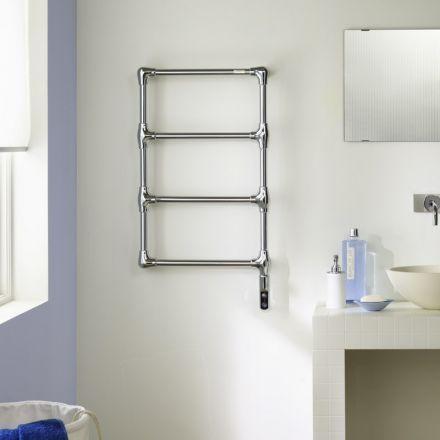 Radiateur sèche-serviettes en laiton chromé pour salle de bain - puissance seche serviette salle de bain