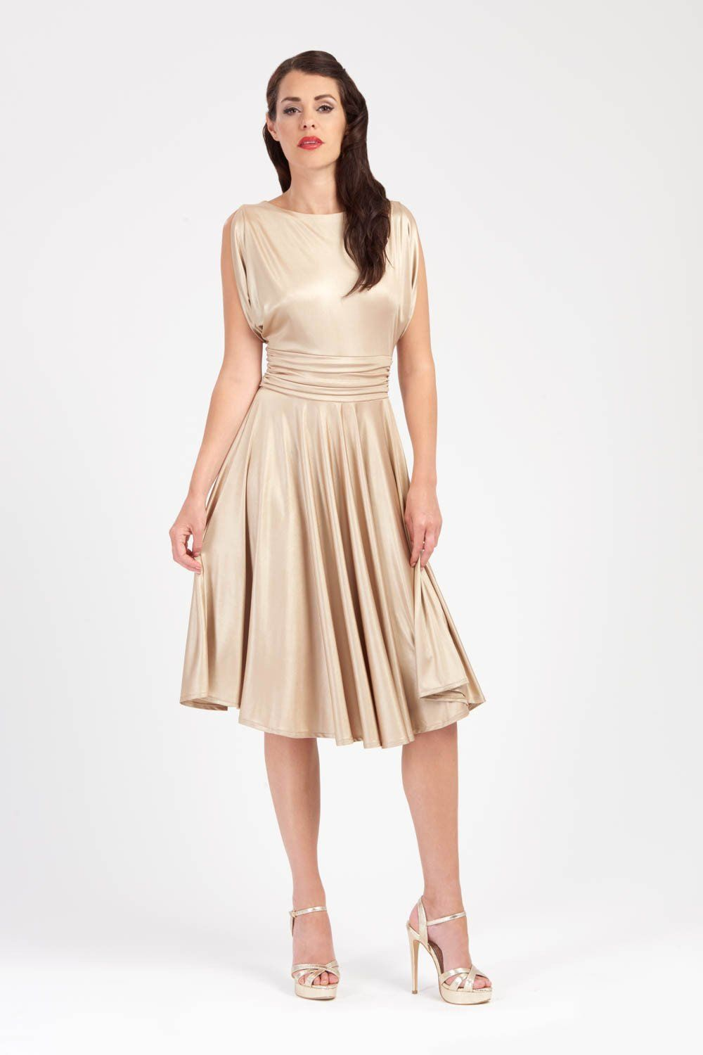 Rita draped sleeve gold dress dresses pinterest gold and