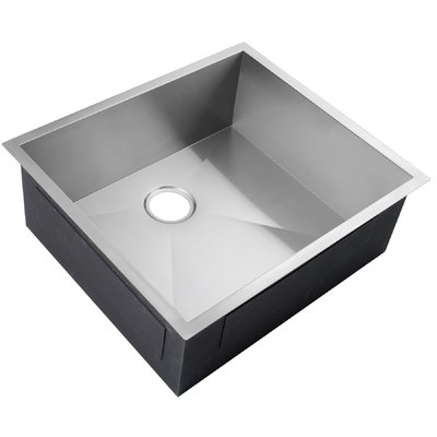 Akdy 25 X 22 Undermount Stainless Steel Single Bowl Kitchen Sink
