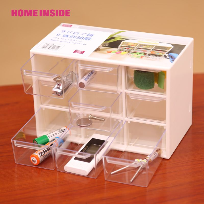 9 Lattice Mini Storage Box Desktop Drawer Jewelry 1pcs Instorage Bo Bins