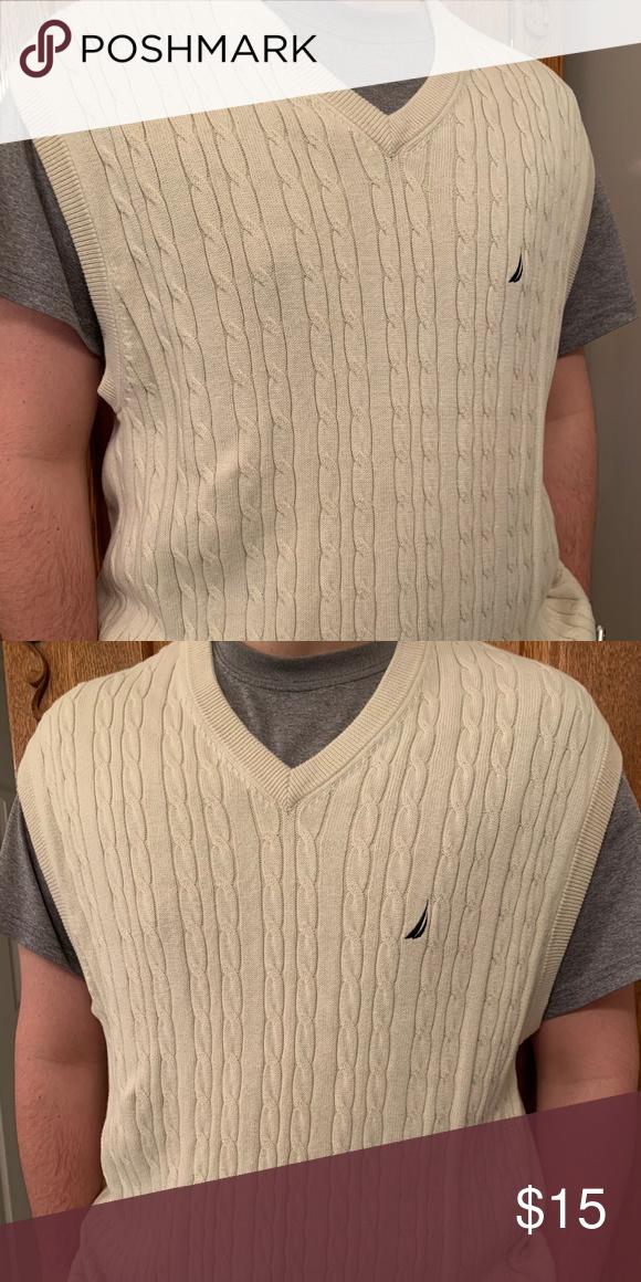 Nautica V Neck Sweater Vest In 2020 Cable Knit Sweater Pattern Vneck Sweater Sweater Vest