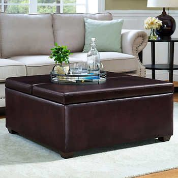 Tremendous Pierce 2 Tray Bonded Leather Storage Ottoman Living Room Alphanode Cool Chair Designs And Ideas Alphanodeonline