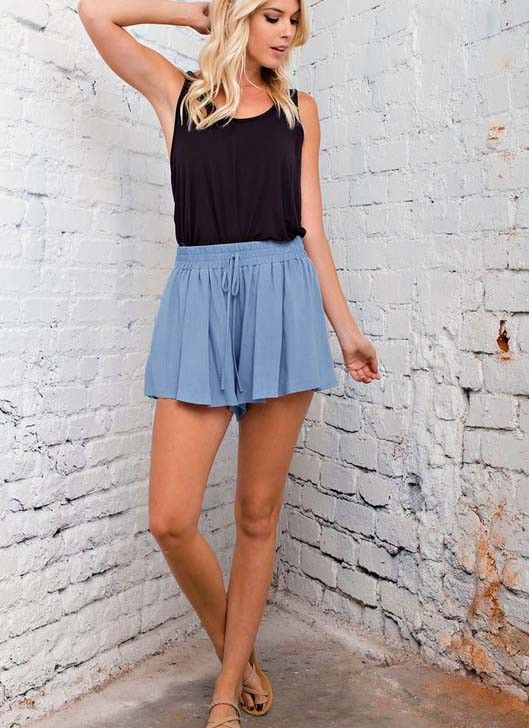 Halliday Shorts | Crepe fabric, High waist short and High waist