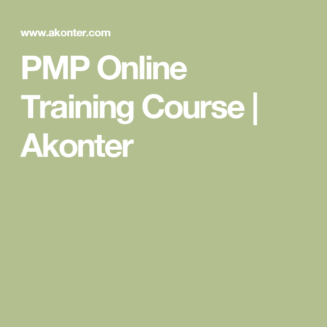 Pmp Online Training Course Akonter Project Management