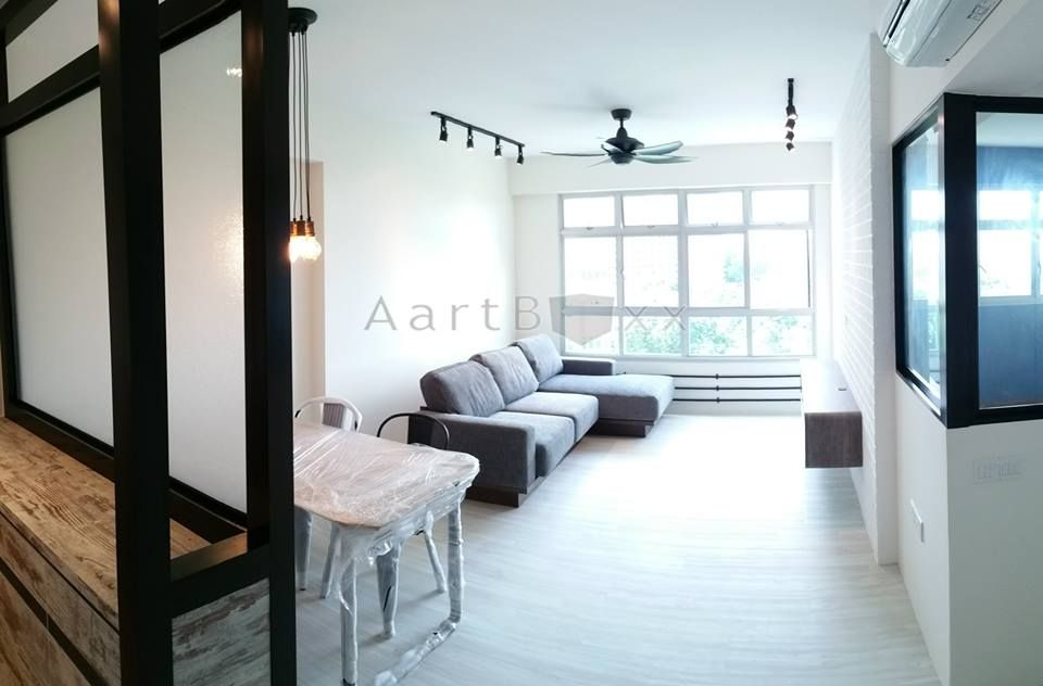 Actual done up hdb bto 4 room industrial blk 470b for 4 room bto interior design