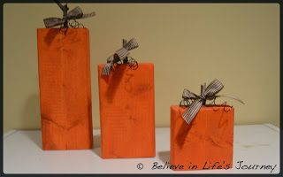 Believe in Life's Journey: Pumpkin 2x4 Craft