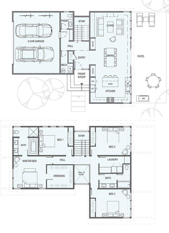 Sd232 For Urban Lots Floor Planning Plan Maison