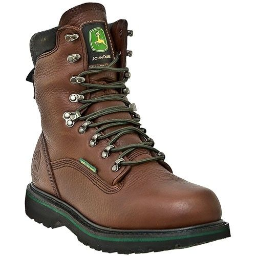 JD8283 John Deere Men's Combine II Series Work Boots Brown