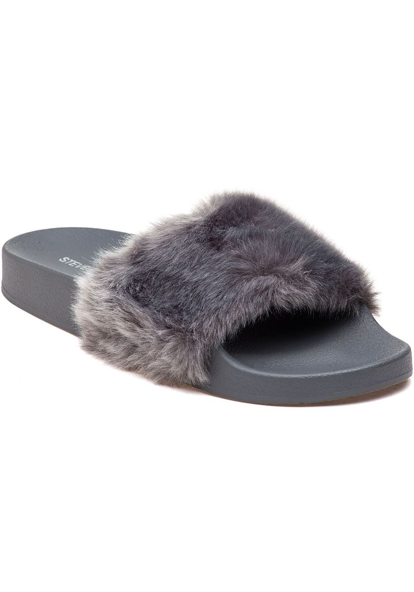good finest selection beauty Steve Madden Softey Fluffy Slide | Fluffy slides, Fancy shoes