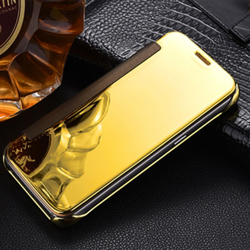 Flip Case For Huawei P8 Lite 2017 Mirror Smart Clear View Cover ...