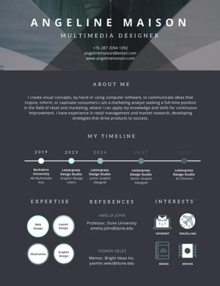 Pin by Alba on Design Infographic resume