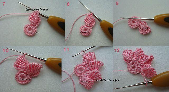 Fiore all uncinetto Crochet flower DODA CROCHET
