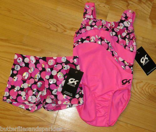 5301a1f493d4 New GK Elite Gymnastics Leotard Shorts Size Girls Child Medium C M Dance M  | eBay