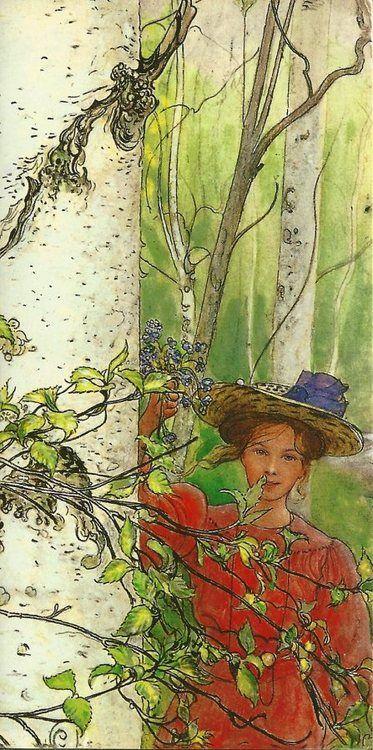Windy Poplars Room Photo Art Painting Carl Larsson