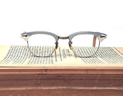 Shuron Eyeglass Frames Vintage Horn-rimmed Aluminum 12K Gold Filled ...