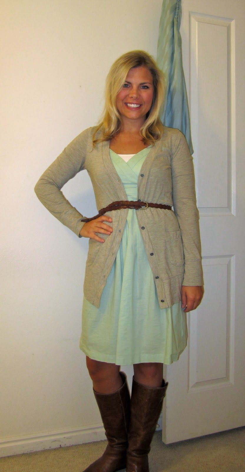 Cardigan: Target (April Dress: Target (August Belt: (September Boots: Steve  Madden Intyce (October Do Y.