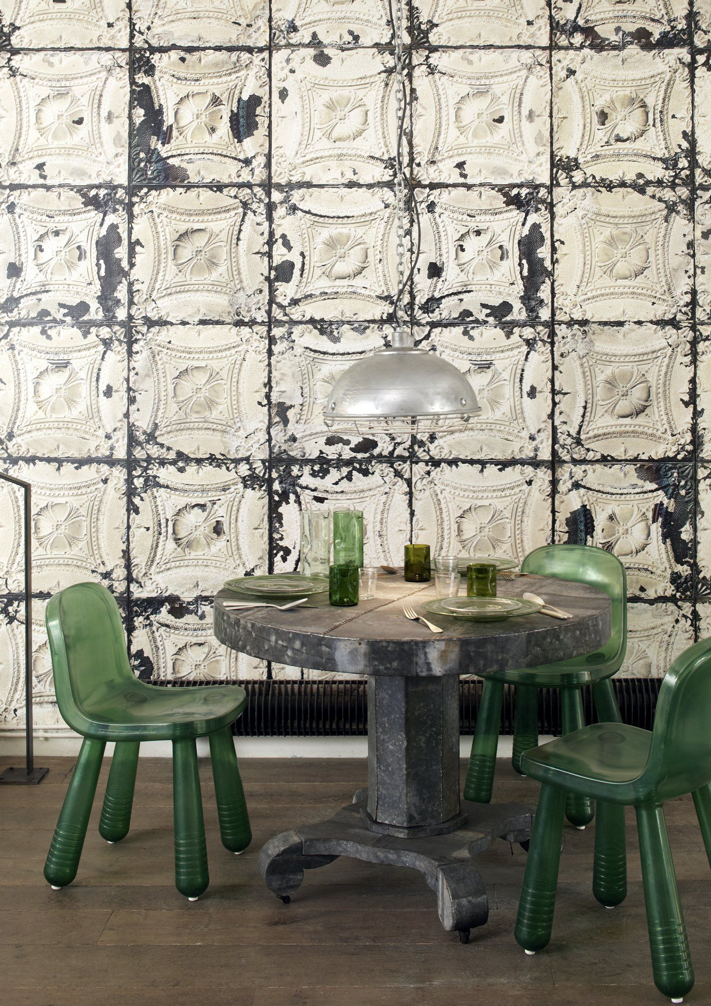 Pressed Metal Wall, A Darker (And Maybe Larger) Light Shade