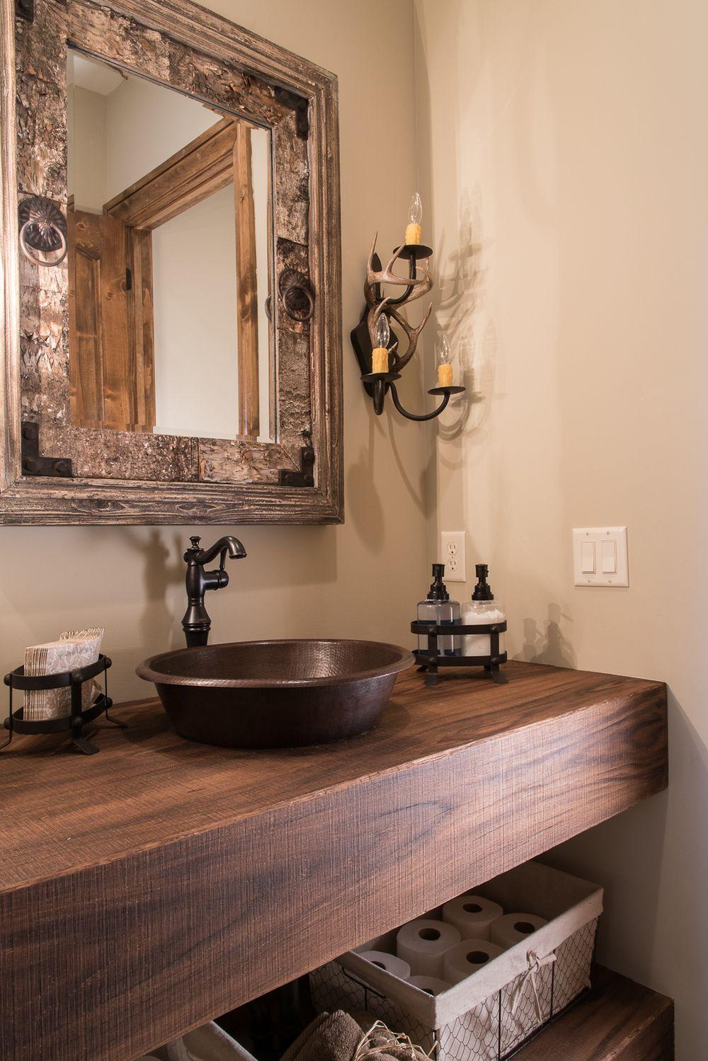 rustic modern farmhouse vanity bathroom bronze