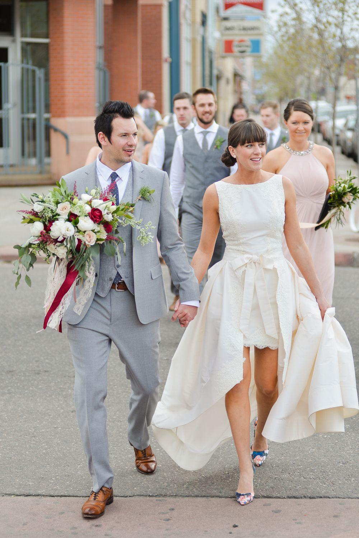 Cara + Evan's Chic Urban Wedding at Blanc White bridal