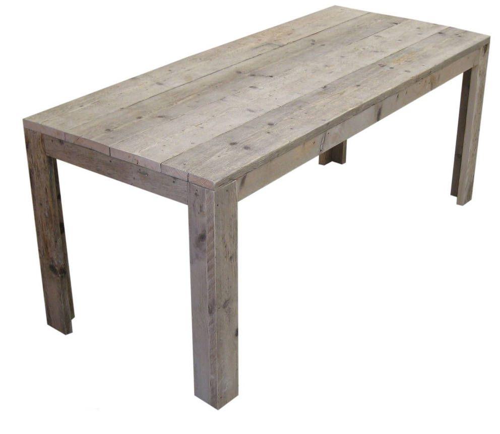 Tafel van steigerhout een eettafel voor in de tuin om for Steigerhouten tafel met steigerbuizen zelf maken