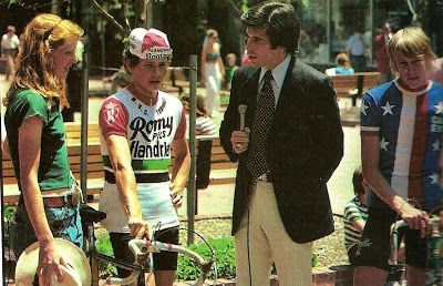 aylor Phinney's mom Connie Carpenter, Noel Dejonckheere and Mark Pringle (US National team) at the '78 Red Zinger.