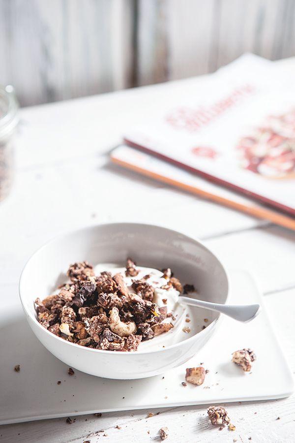 Aujourd\u0027hui je me suis régalée avec du granola au chocolat maison