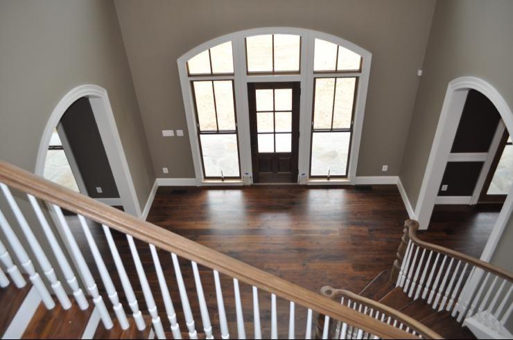 Home Foyer Paint Colors : Paint color pratt and lambert kodiak gray love the arches