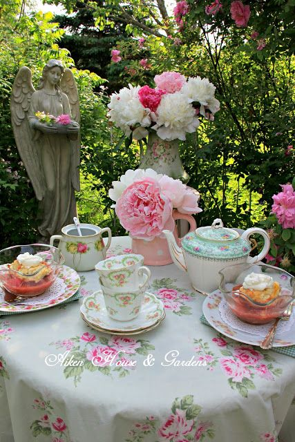 teatime.quenalbertini: Rose Garden Tea | Aiken House & Gardens ...