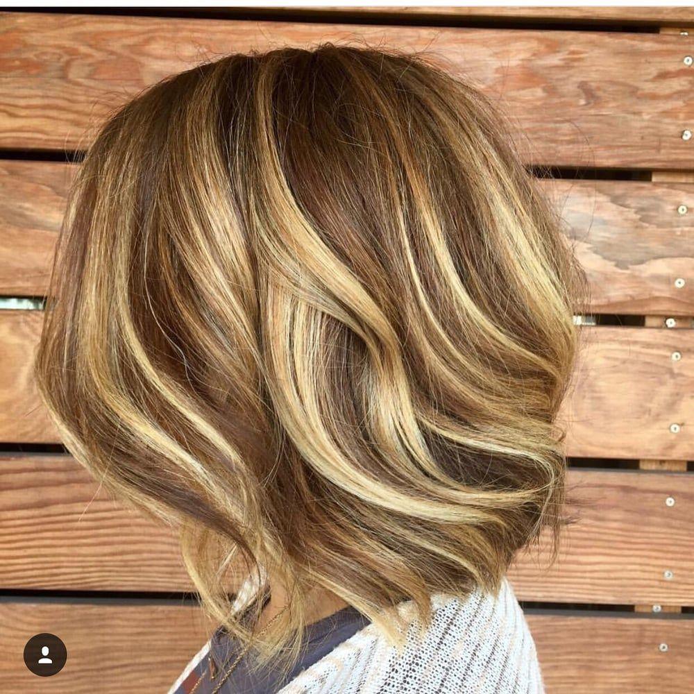 Photo Of Propaganda Hair Group Austin Tx United States Highly Dimensional Balayage Melanie Jacobs Lob Haircut Long Hair Styles Hair Color