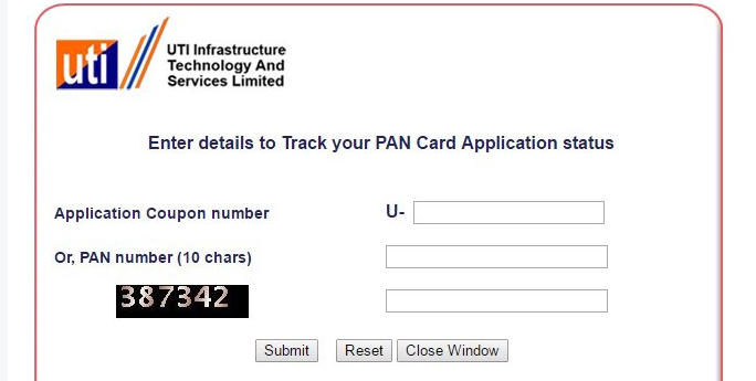 Pan Card Status Uti Nsdl  Pan Card Status Uti Nsdl