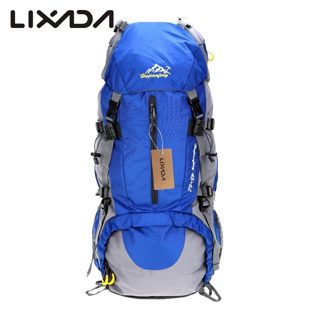 252560b314 Lixada 50L Camping Bags Waterproof Outdoor Sport Hiking Trekking Travel Backpack  Pack Mountaineering Knapsack with Rain