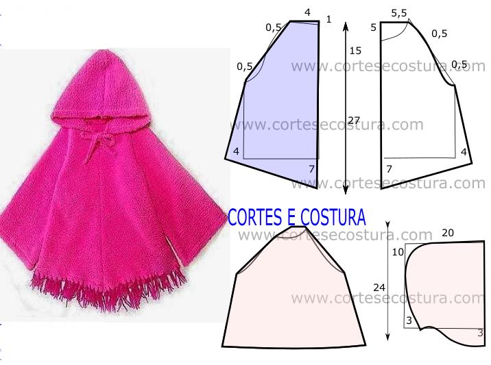 CAPA DE CRIANÇA COM CAPUZ DE CORTE E COSTURA FÁCIL | sewing ...