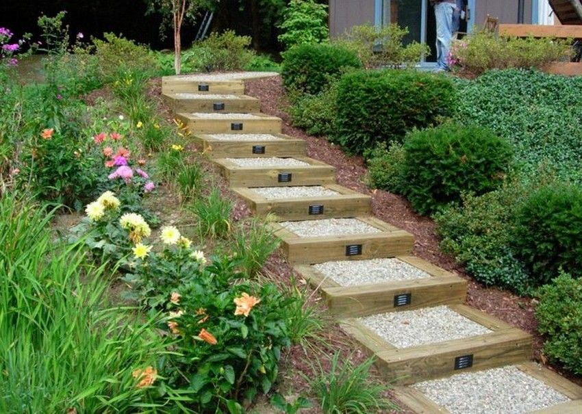 Landscape Design Garden Stairs Garden stairs Gardens and Sloped