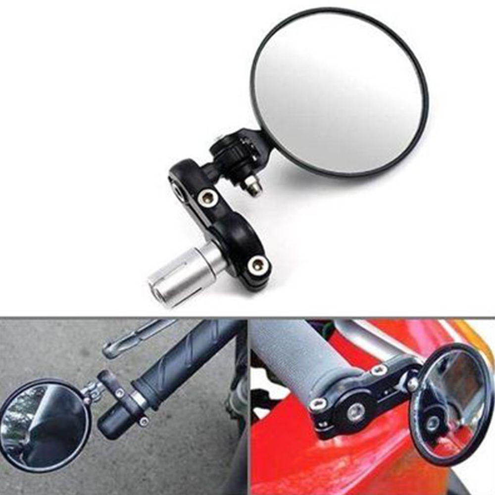 Universal Motorcycle 4/'/' Round Hand Bar Rearview Mirrors Dirt bike Custom Bobber