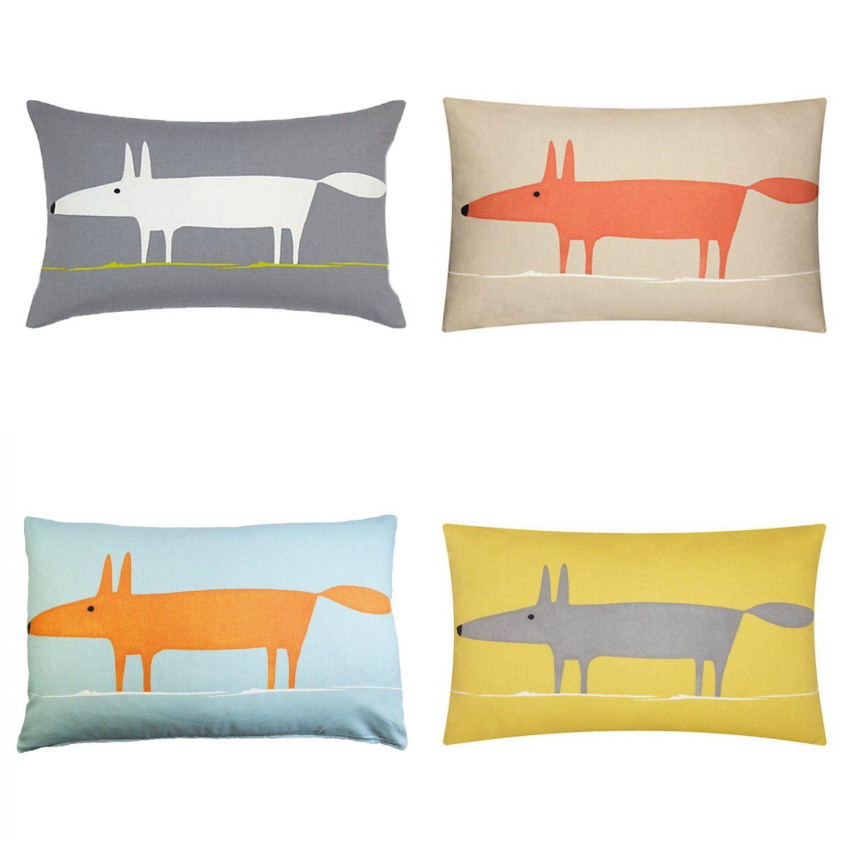 Mr Fox Cuscini.Copertine Mr Fox Scion Fabric Cushion In 4 Colori Con Opzione Di