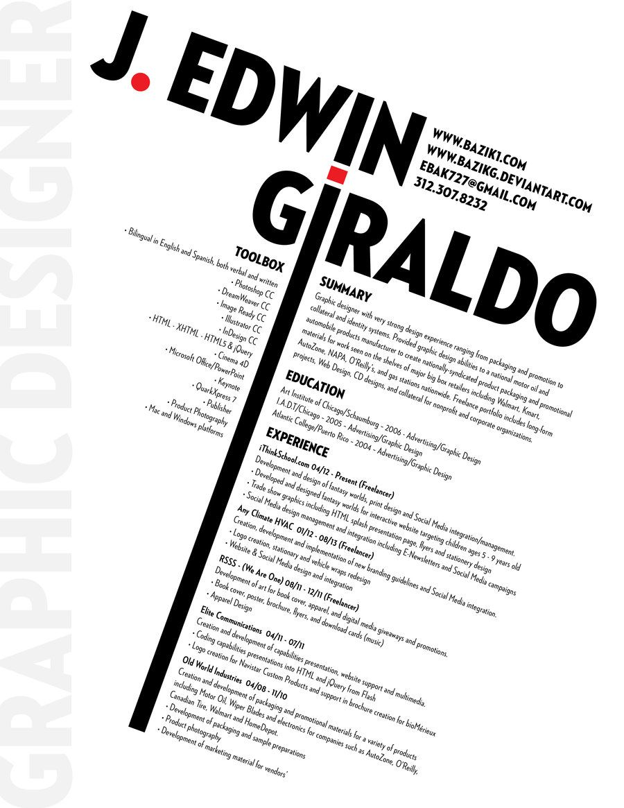 CV creativo Fuente: @deviantART +info http://aulacm.com/plantillas ...