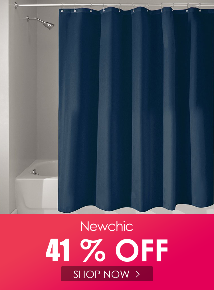 180x180cm Solid Color Waterproof Shower Curtain Mold Resistant