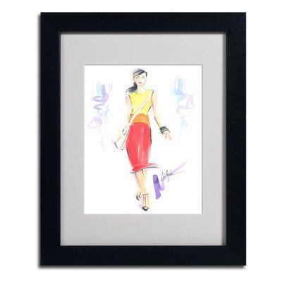 Trademark art taste the rainbow by jennifer lilya framed painting print size 20