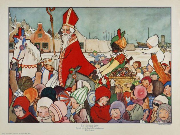 """Sinterklaas & Associates (A drawing from a picture book by Rie Cramer) from """"Happy Belated Sinterklaas! December 5"""" on ADD . . . and-so-much-more"""